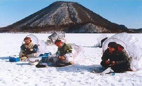 榛名湖のワカサギ釣り場