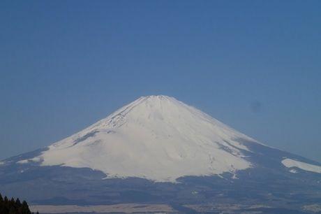 御殿場市から見える富士山