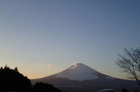テントサイトから見える富士山