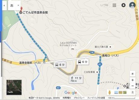 御殿場温泉会館へのアクセスマップ