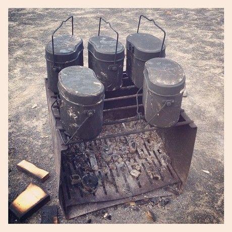火にかけられた飯盒