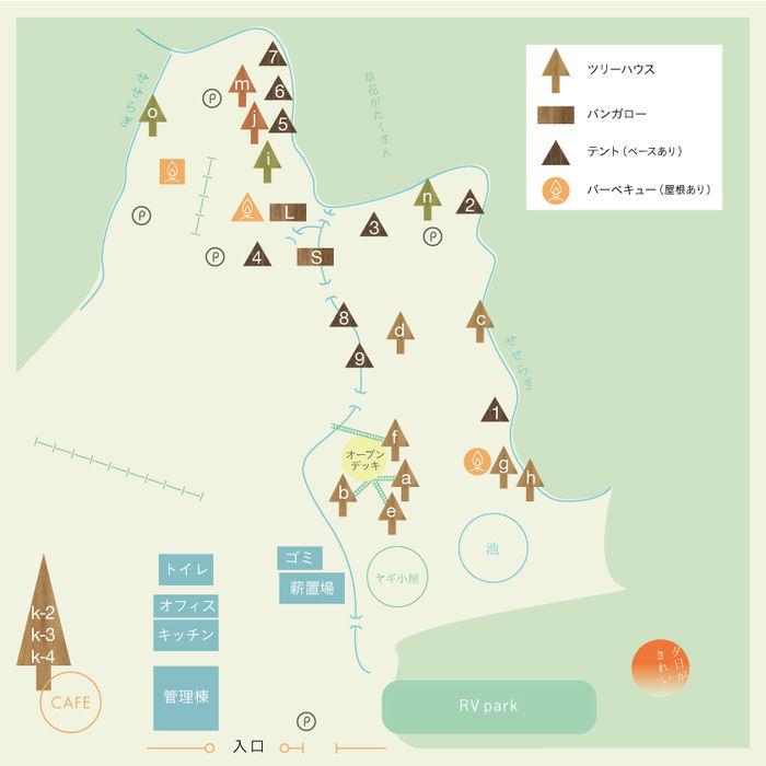 小田切ガーデンツリーハウスvillageのマップ