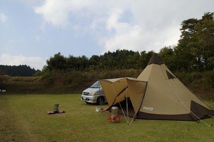 芝生サイトのキャンプ場
