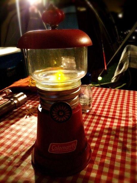 手作りのランプ