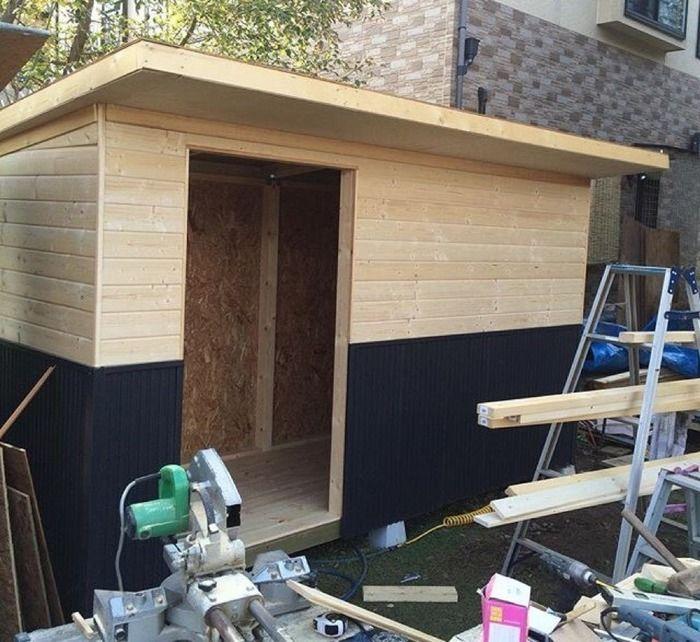 kabawoさん手作りの小屋の製作過程
