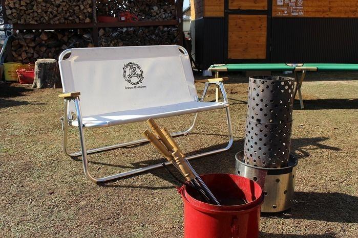 kabawoさんの自宅のベランダに置いてある椅子
