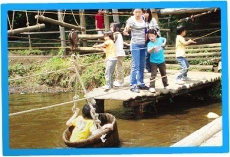 フィールドアスレチック横浜つくし野のセカンドステージ「池」
