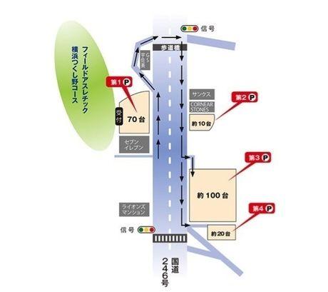 フィールドアスレチック横浜つくし野のアクセスマップ