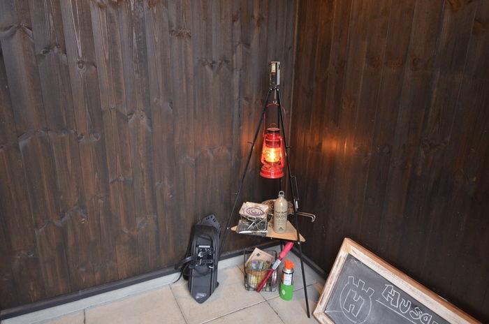 kabawoさんのご自宅の玄関にあるトライポッド