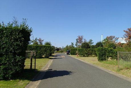 日川浜キャンプ場の縦長サイト