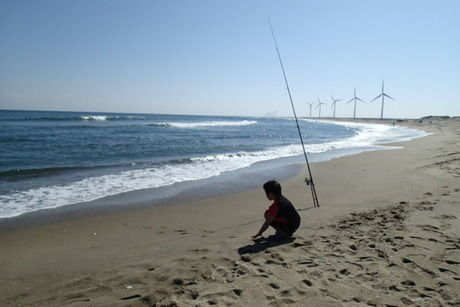 日川浜海水浴場の砂浜