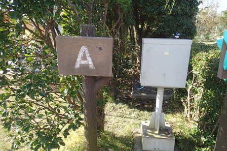 日川浜キャンプ場の電源付きサイト