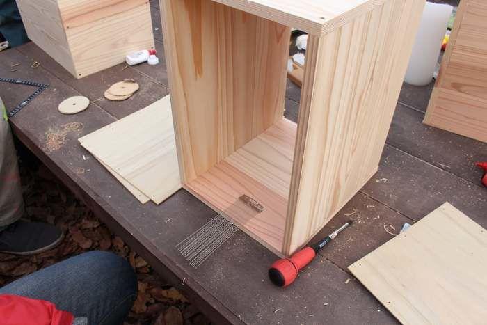 固定された木の板