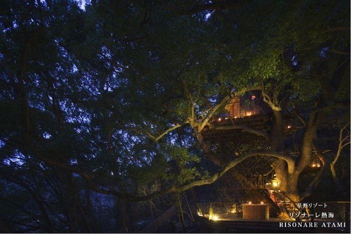 リゾナーレ熱海の夜のピクニックの様子