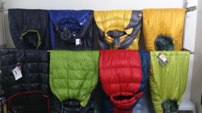 様々な寝袋