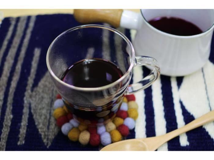 カップに入ったホットワイン