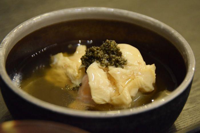 休暇村日光湯元の夕食の湯葉