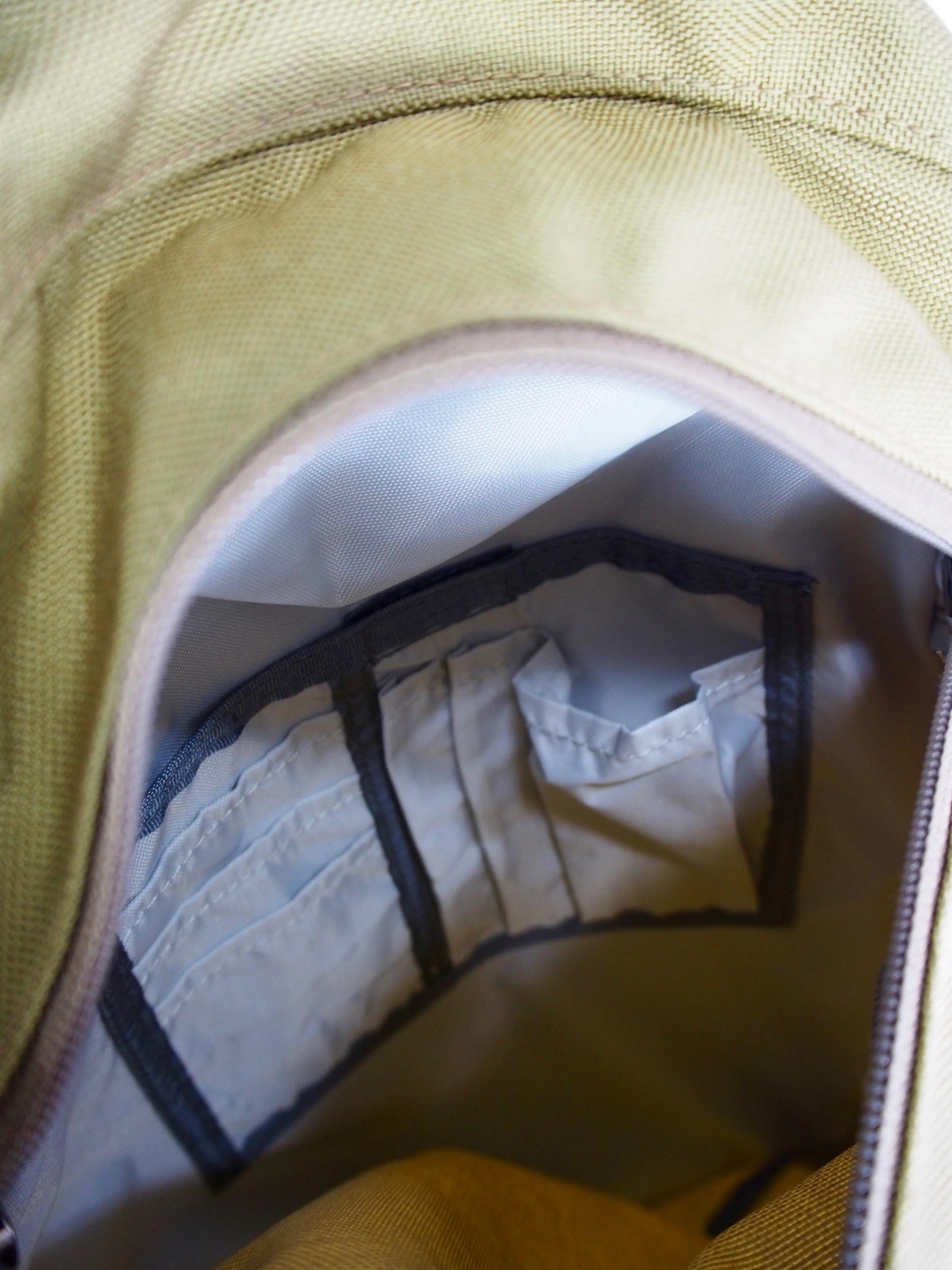 karrimor新作リュックのサブポケット