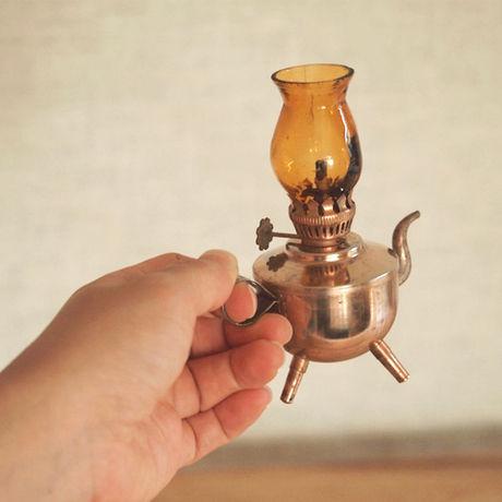 ハイヒュッテのコッパー製のオイルランプ