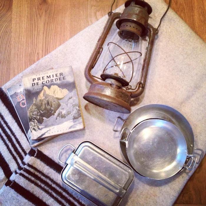 ハイヒュッテの鍋やランタン