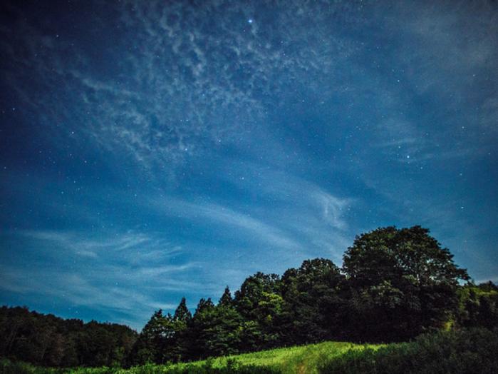 美しい自然と空の写真