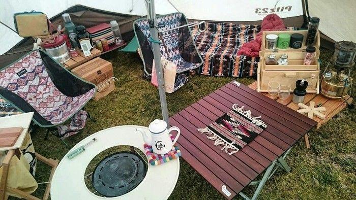 充実したテント内の様子