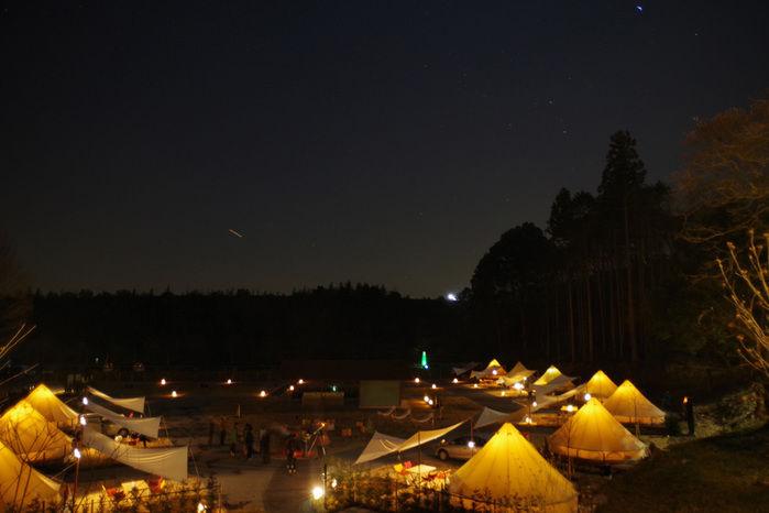 森と星空キャンプヴィレッジのグランピングサイト
