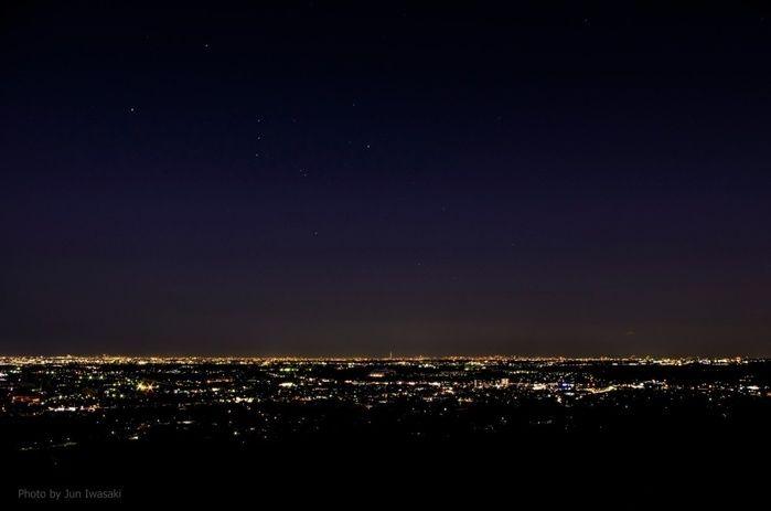 森と星空のキャンプヴィレッジとの比較夜景