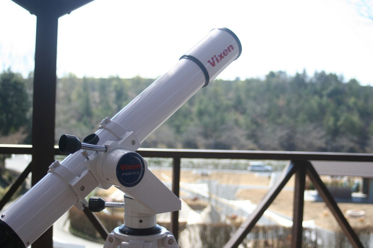 森と星空のキャンプヴィレッジで貸出している望遠鏡