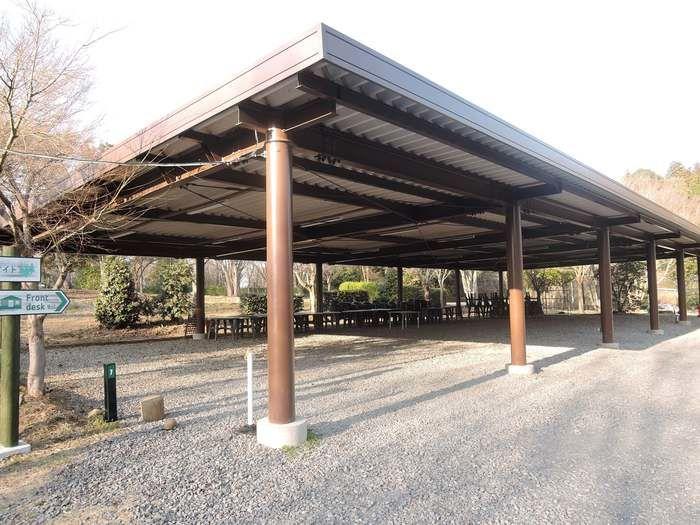 森と星空のキャンプヴィレッジのBBQスペース