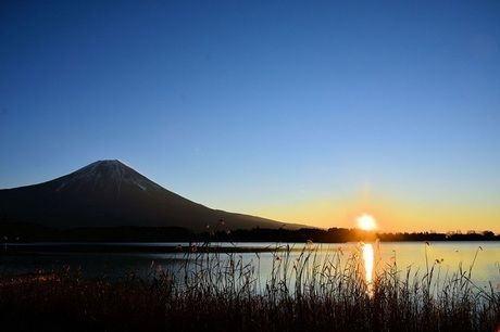 富士ヶ嶺 おいしいキャンプ場から見える富士山