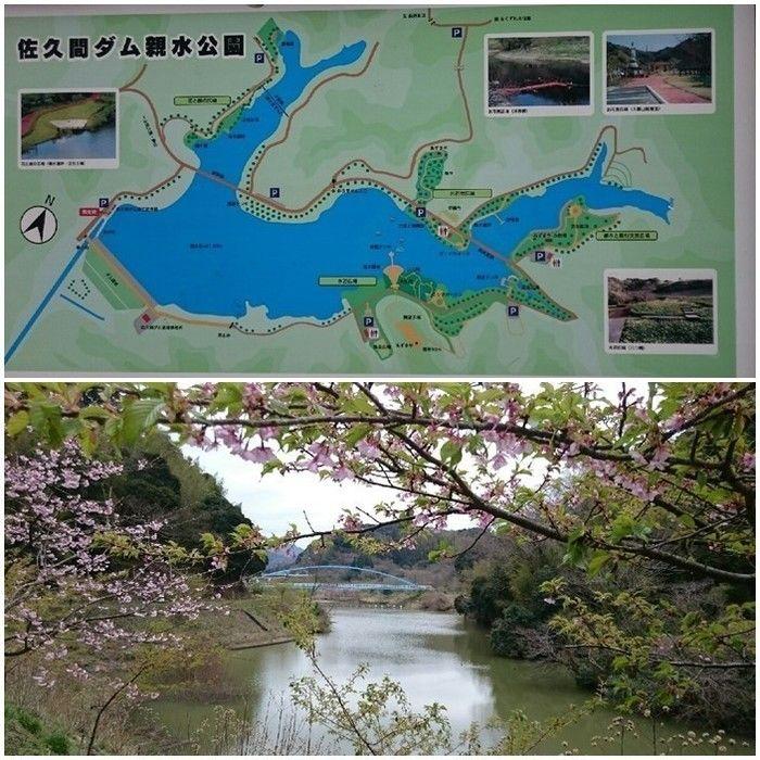 佐久間ダム湖親水公園の園内マップと景色