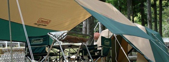 (山梨県)森の隠れ家ビックホーンオートキャンプ場に張られたテント