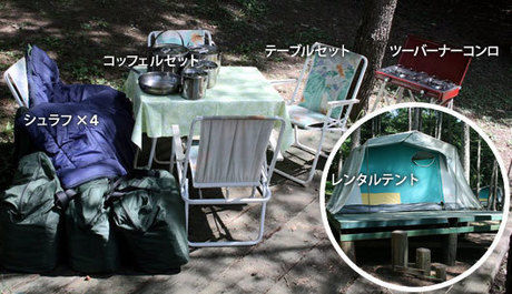 (栃木県)WOOD PECKER(ウッドペッカー)のレンタルセット