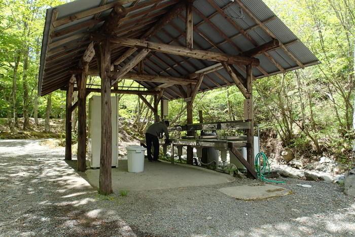 山伏オートキャンプ場の炊事場