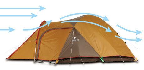 スノーピークのテントの空気の流れ
