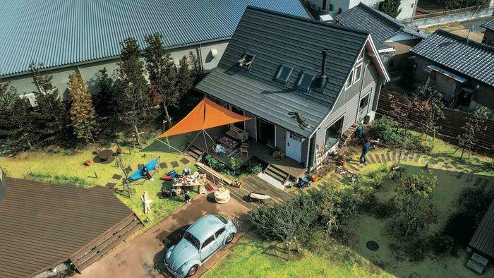 空から見たBESSの家