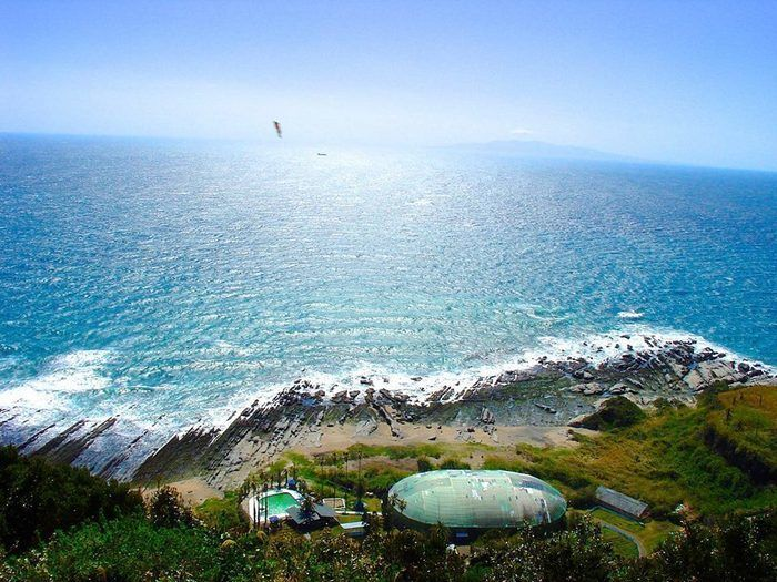 【千葉県】白浜フラワーパークから見えるビーチ