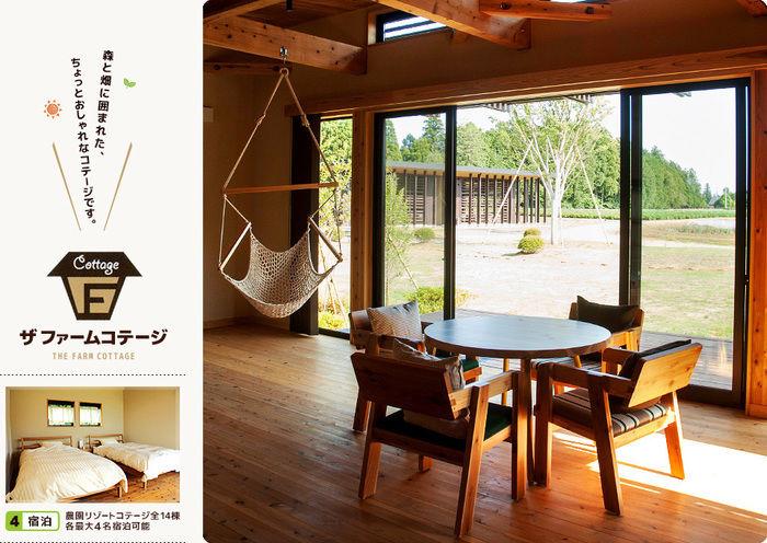 千葉県香取市 農園リゾート THE FARMのコテージの室内