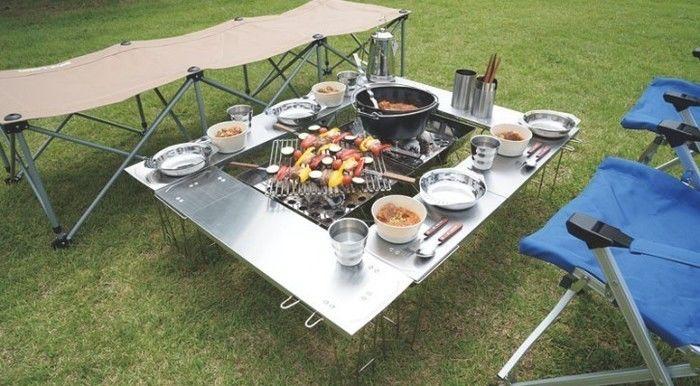 ユニフレームの焚き火台テーブル