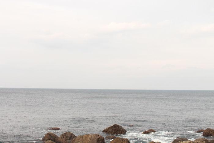 島の湯から見える海