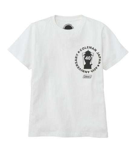 コールマンの40周年限定モデルのホワイトTシャツ