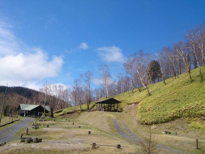 高原山岳オートキャンプ場のサイトの全景