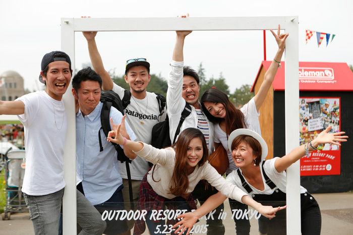 コールマンアウトドアリゾートパーク2016に集まる人々