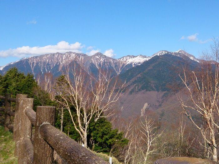 しらびそ高原からみた南アルプスの山々
