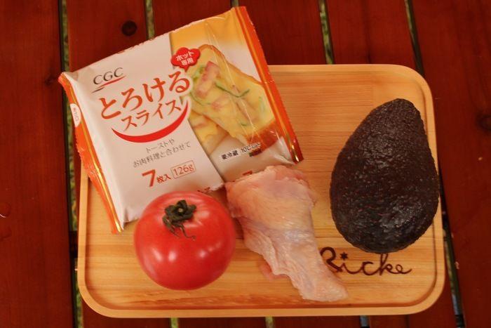 まるごとトマトのホイル焼きの材料