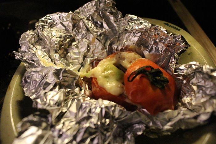 まるごとトマトのホイル焼き