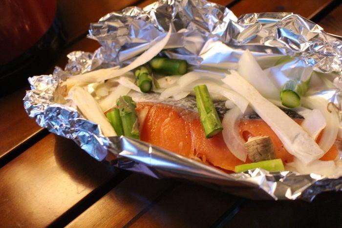 野菜ときのこたっぷりの鮭のホイル焼き