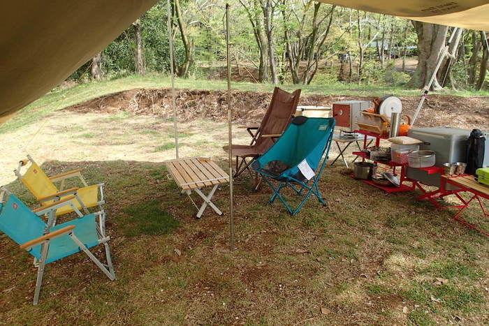 水海道あすなろの里のキャンプ場の様子