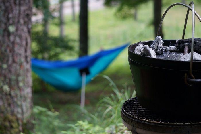 キャンプの調理の様子